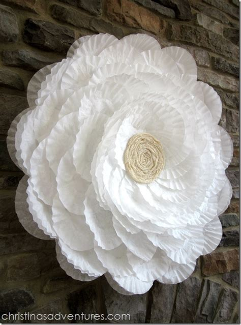 How To Make Paper Flowers Out Of Coffee Filters - maddycakes muse coffee filter flower bridal shower decor