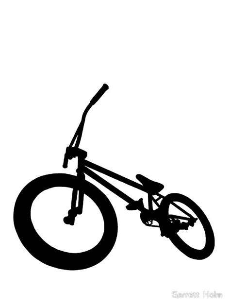 Bicycle Wall Stickers quot bmx bike silhouette black quot stickers by garrett holm