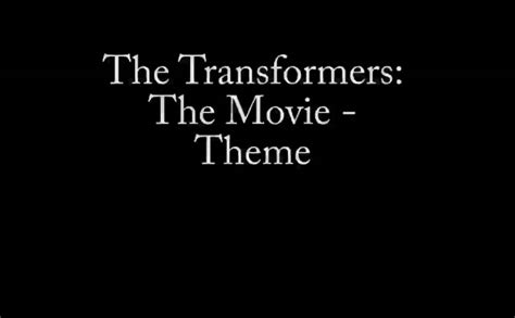 movie theme music youtube the transformers the movie theme song youtube