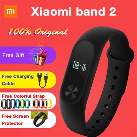 Terlaris Xiaomi Mi Band 2 Oled Original Free 2 Screenguard Lpi1175 original xiaomi mi band 2 smart fitness bracelet wristband miband oled touchpad sleep