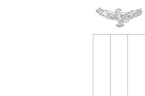 free coloring pages of blank flag