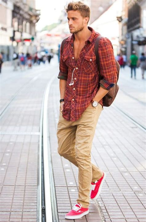 what looks good with red why khaki pant is essential for men s capsule wardrobe