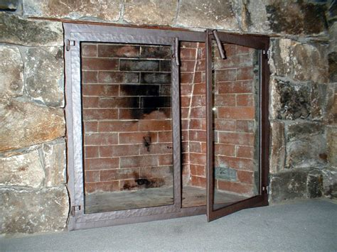Ideas Fireplace Doors Great Iron Fireplace Doors Ideas Door Stair Design