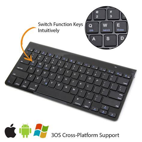 Universal Ultra Slim Wireless Bluetooth Keyboard Ios Android Pc Black gmyle universal ultra slim bluetooth keyboard for windows android ios aud 18 98 picclick au
