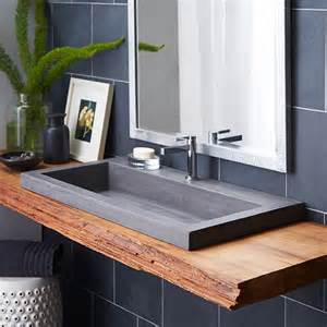 trough 3619 nativestone 174 rectangular bathroom sink
