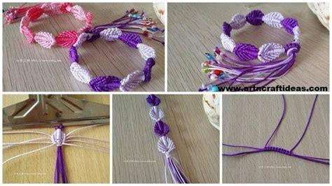 Macrame Craft Ideas - how to make macrame weave bracelet craft ideas