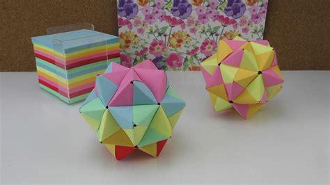Bastelanleitungen Aus Papier by Origami Modulares Origami Anleitung 3d Aus