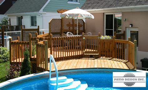 patio piscine patio avec piscine hors terre ext 233 rieur