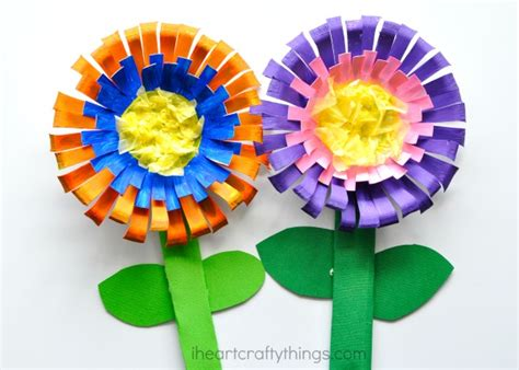 Floral Craft Paper - bright and colorful flower craft for i crafty