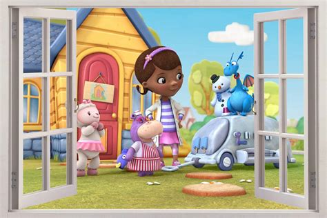 doc mcstuffins disney 3d window view decal wall sticker
