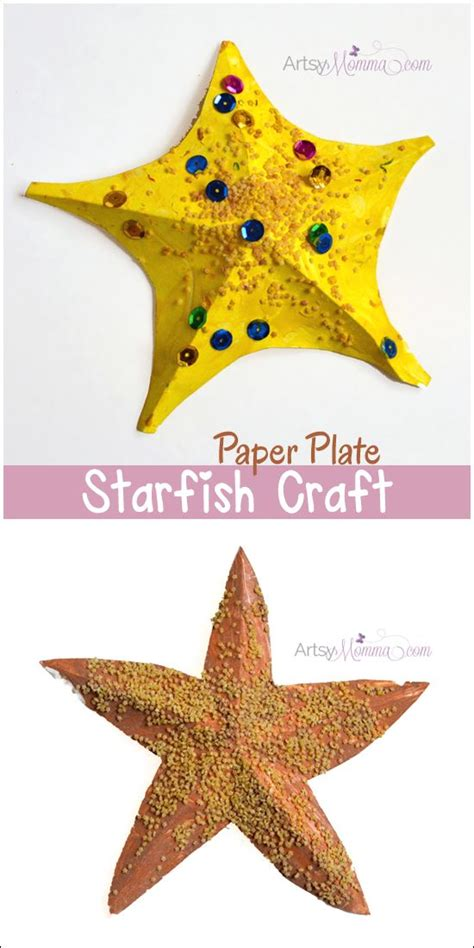 How To Make Starfish With Paper - starfish craft for template beautiful crafts for