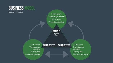 Business Model Powerpoint Presentation Template By Sananik Graphicriver Model Powerpoint Presentation Templates