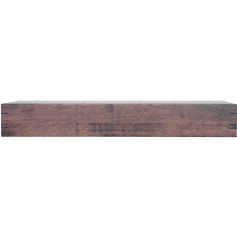 nexxt mantel 24 inch floating shelf chestnut in wall