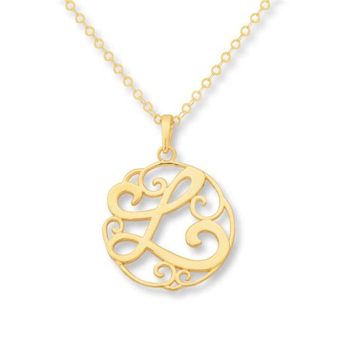 intial necklace jared monogram necklace initial quot l quot 14k yellow gold