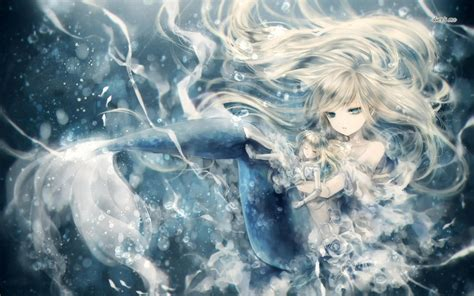 wallpaper anime sad hd anime mermaid wallpaper wallpapersafari