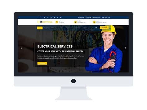 Et Electrical Free Responsive Joomla Electrical Website Templateet Electrical Free Free Electrician Website Template