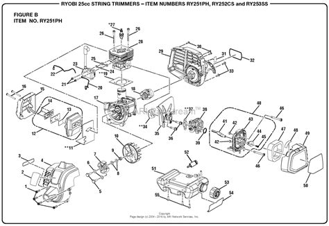 homelite ryph cc string trimmer parts diagram  figure  item  ryph