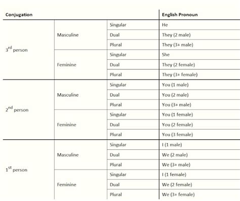 verb conjugation table verb conjugation chart template verb