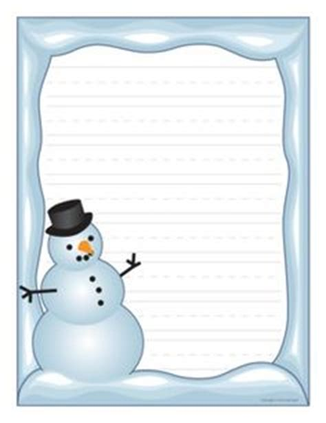 lined paper with snowman border 9 best images of winter border paper printable winter