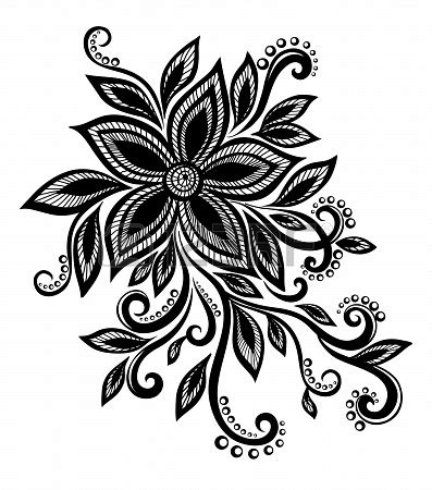 design flower black and white simple flower designs black and white cliparts co