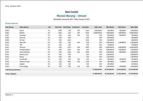 contoh laporan gudang contoh laporan persediaan software zahir accounting