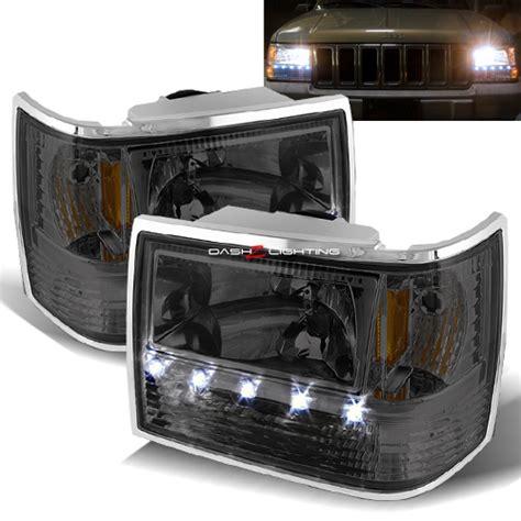 Jeep Grand Lights 93 98 Jeep Grand 1 Led Headlights Smoke