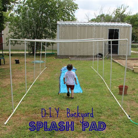 how to make a backyard splash pad diy splash pad for summer fun year after year