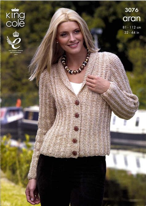 king cole aran knitting patterns cardigan and bolero king cole fashion aran 3076
