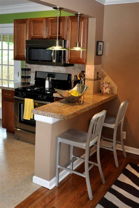 small breakfast bar idea  tiny kitchen breakfast bar