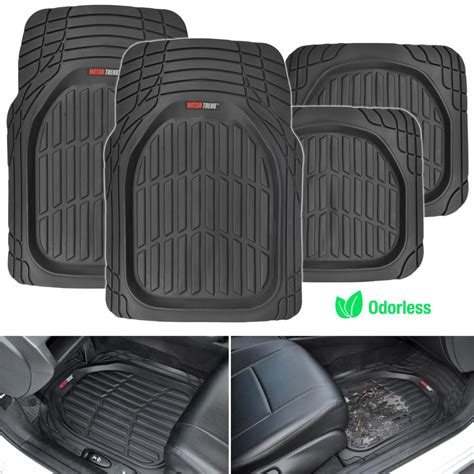 How To Remove Rubber Smell From Car Mats by Dish Heavy Duty Rubber Car Floor Mats 4pc Front Rear