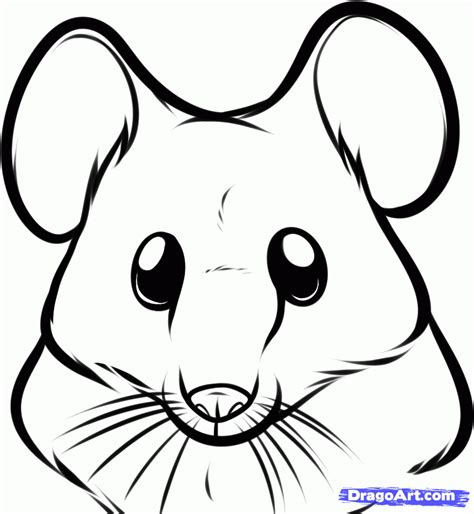rat face coloring page how to draw a mouse face step by step forest animals