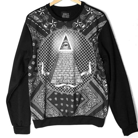 illuminati hoodie illuminati pyramid eye print tacky sweatshirt