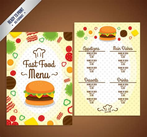 menu flyer template free 30 free restaurant and food menu flyer templates designyep