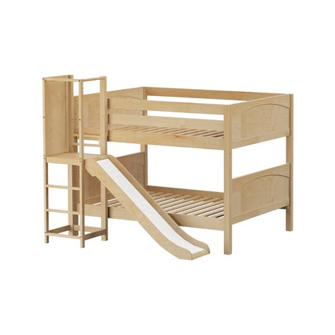 Maxtrixkids Chant Np Low Bunk Bed With Slide Platform Bunk Bed Platform