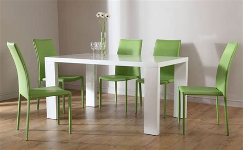 Dining Table With Green Chairs Stockholm Darwin Dining Table And 4 6 Leather Chairs Set