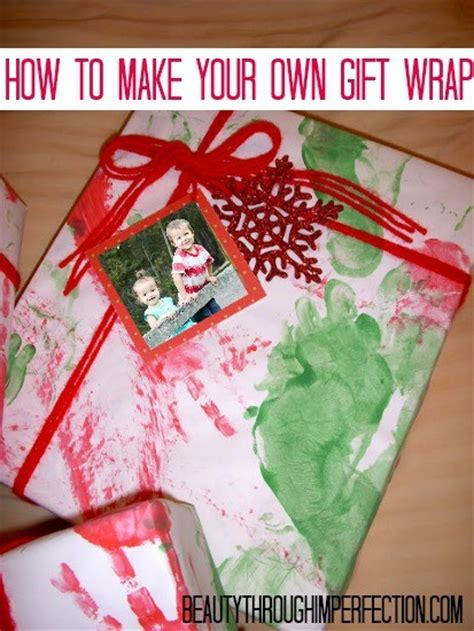 your own gifts make your own wrapping paper through