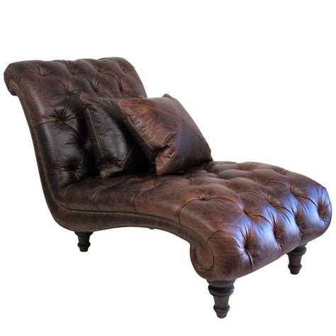 leather tufted chaise brown leather tufted chaise lounge for sale at 1stdibs