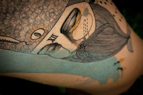 uk artist duo create cubist tattoos inspired by clients