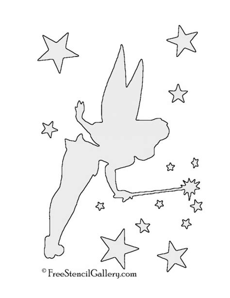 tinkerbell template disney free stencil gallery
