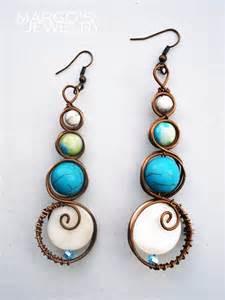 Handcrafted Earrings - copper jewelri moodart