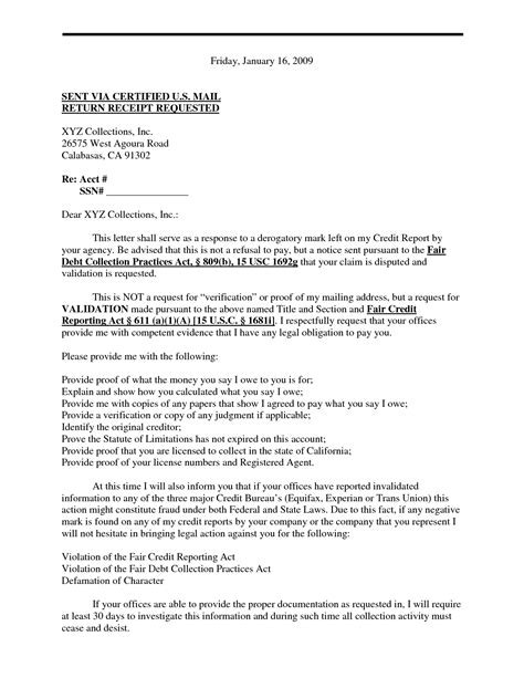 Debt Validation Template by Sle Debt Validation Letter Template Best Business