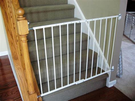 baby gate for banister stairs retractable baby gates for stairs with railings
