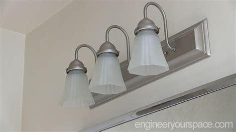 bathroom chrome light fixture diy smart diy solutions for renters part 2