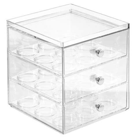 plastic 3 drawer organizer target interdesign coffee pod plastic 3 drawer organize target