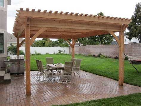 plan   easy    diy solid wood pergola