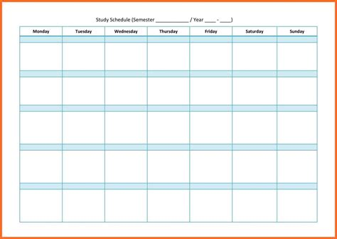 study template study schedule templates soap format