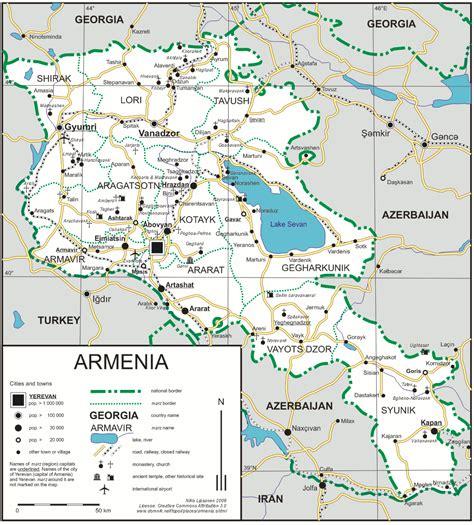 map of armenia map of armenia republic of armenia maps mapsof net