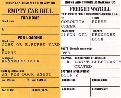 Model Railroad Car Card Template by Getting Real More Prototypical Waybills Model Railroad