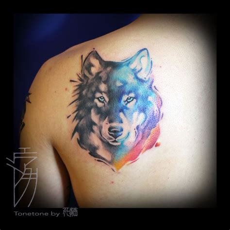 wolf watercolor tattoo 513 best tattoos wolf images on