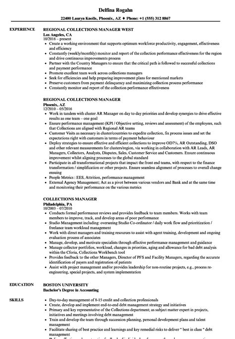 Collections Manager Resume Sles Velvet Jobs Collection Resume Templates